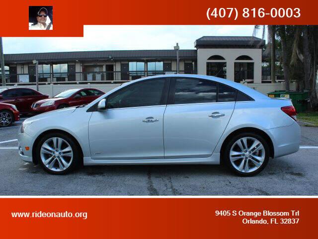 2012 Chevrolet Cruze for sale at Ride On Auto in Orlando FL