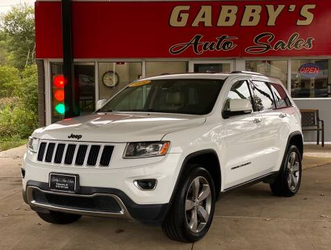 2014 Jeep Grand Cherokee for sale at GABBY'S AUTO SALES in Valparaiso IN