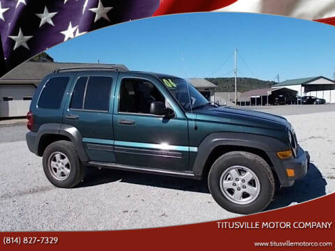 2006 Jeep Liberty for sale at Titusville Motor Company in Titusville PA