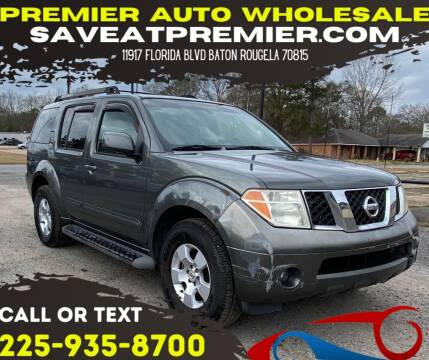 2006 Nissan Pathfinder for sale at Premier Auto Wholesale in Baton Rouge LA