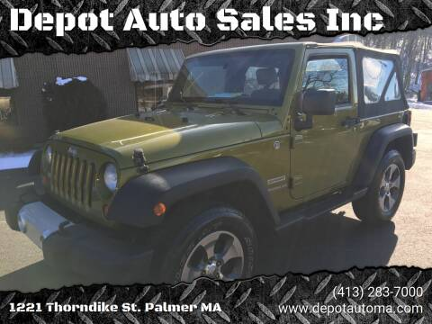 2010 Jeep Wrangler for sale at Depot Auto Sales Inc in Palmer MA