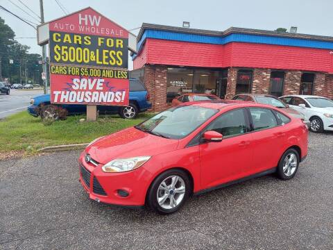 2014 Ford Focus for sale at HW Auto Wholesale in Norfolk VA