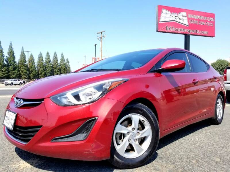 2014 Hyundai Elantra for sale at BAS MOTORSPORTS in Clovis CA