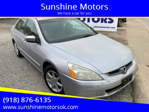2004 Honda Accord for sale at Sunshine Motors in Bartlesville OK