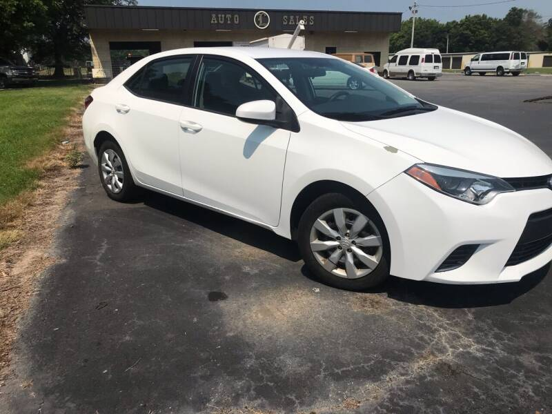 2015 Toyota Corolla for sale at Circle L Auto Sales Inc in Stuttgart AR