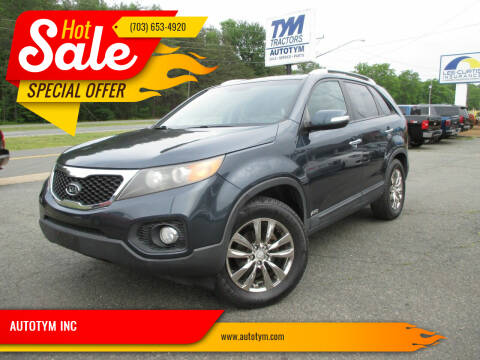 2011 Kia Sorento for sale at AUTOTYM INC in Fredericksburg VA