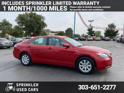 2009 Toyota Camry Hybrid for sale at Sprinkler Used Cars in Longmont CO