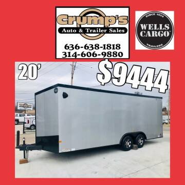 2021 Wells Cargo 20' Enclosed CarHauler for sale at CRUMP'S AUTO & TRAILER SALES in Crystal City MO