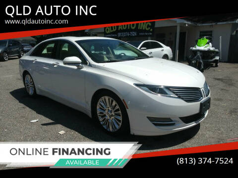 2013 Lincoln MKZ for sale at QLD AUTO INC in Tampa FL