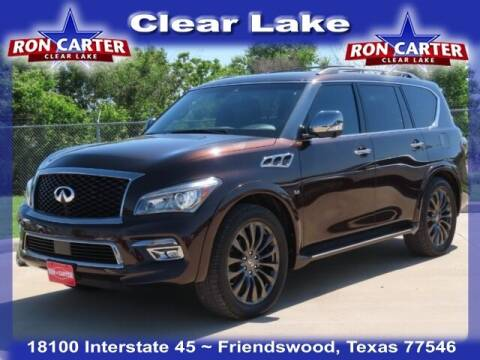 2017 Infiniti QX80 for sale at Ron Carter  Clear Lake Used Cars in Houston TX