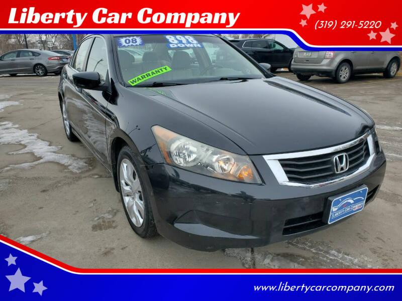 2008 Honda Accord for sale at Liberty Car Company in Waterloo IA