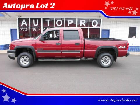 2006 Chevrolet Silverado 2500HD for sale at Autopro Lot 2 in Sunbury PA