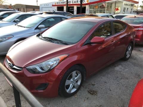 2011 Hyundai Elantra for sale at Richmond Car Co in Richmond TX
