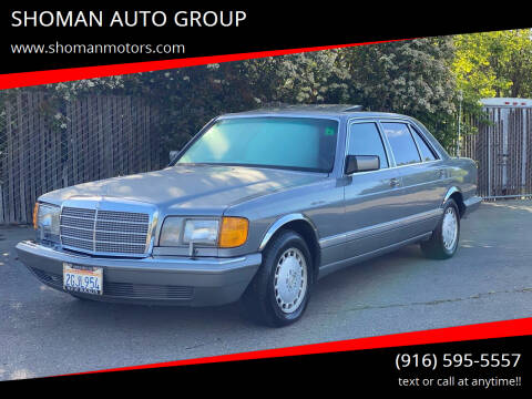 1987 Mercedes-Benz 420-Class for sale at SHOMAN AUTO GROUP in Davis CA