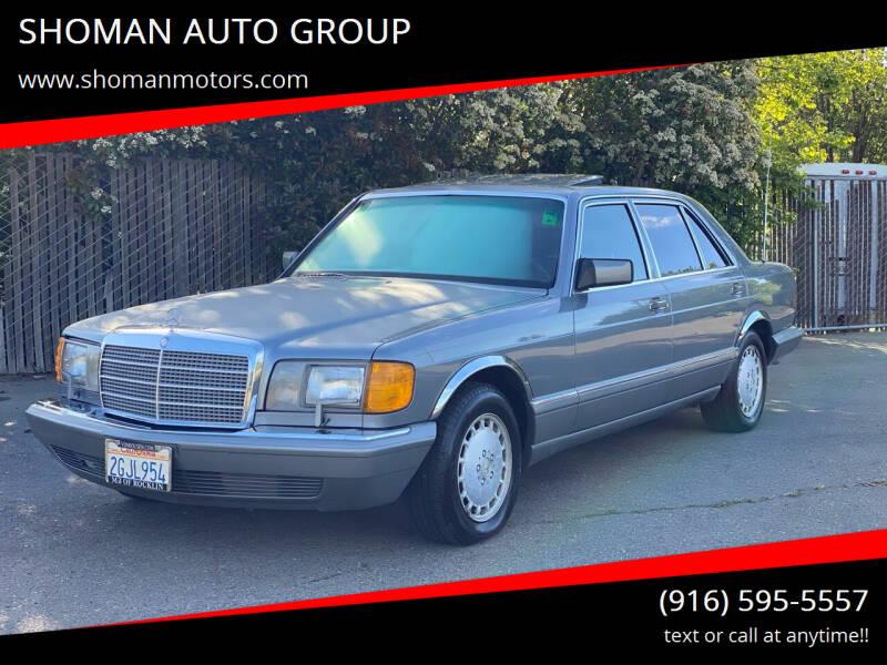 1987 Mercedes-Benz 420-Class for sale at SHOMAN AUTO GROUP in Davis CA