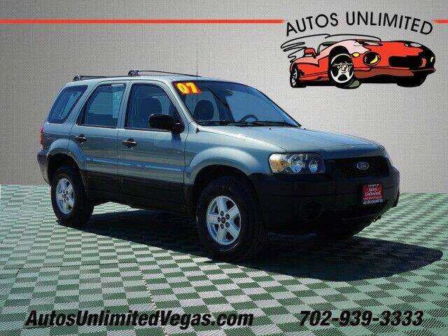 2007 Ford Escape for sale at Autos Unlimited in Las Vegas NV
