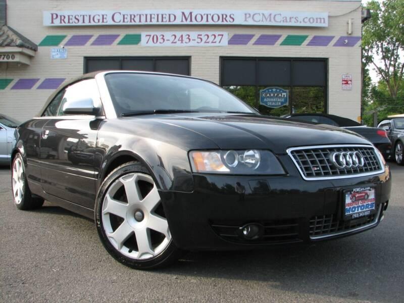 2004 Audi S4 for sale at Prestige Certified Motors in Falls Church VA