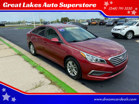 2016 Hyundai Sonata for sale at Great Lakes Auto Superstore in Waterford Township MI
