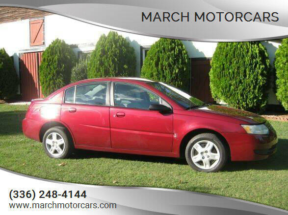 2006 Saturn Ion for sale at March Motorcars in Lexington NC