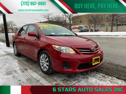 2013 Toyota Corolla for sale at 6 STARS AUTO SALES INC in Chicago IL