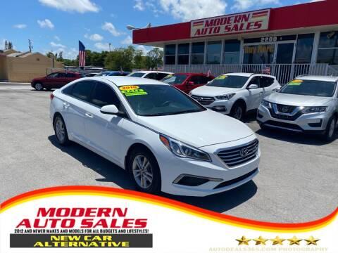 2016 Hyundai Sonata for sale at Modern Auto Sales in Hollywood FL