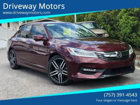 2017 Honda Accord for sale at Driveway Motors in Virginia Beach VA