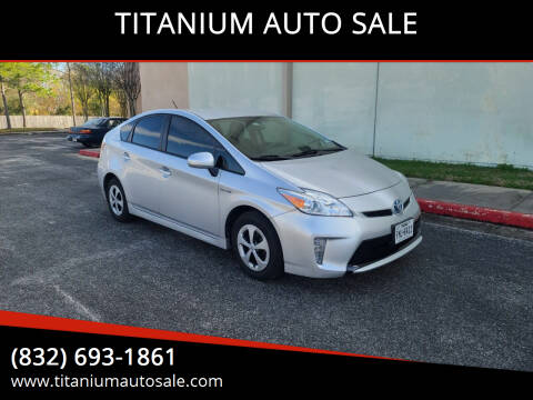 2013 Toyota Prius for sale at TITANIUM AUTO SALE in Houston TX