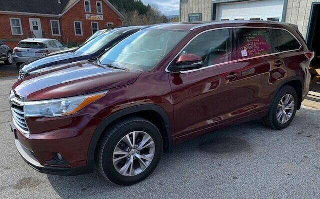 2015 Toyota Highlander for sale at Past & Present MotorCar in Waterbury Center VT