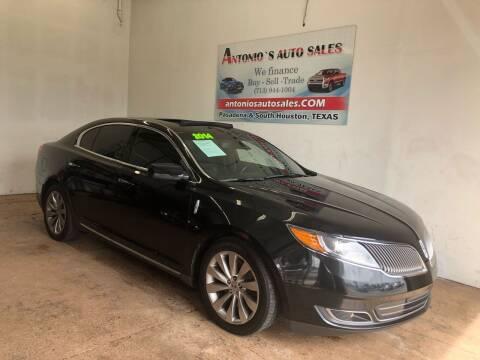 2014 Lincoln MKS for sale at Antonio's Auto Sales in South Houston TX