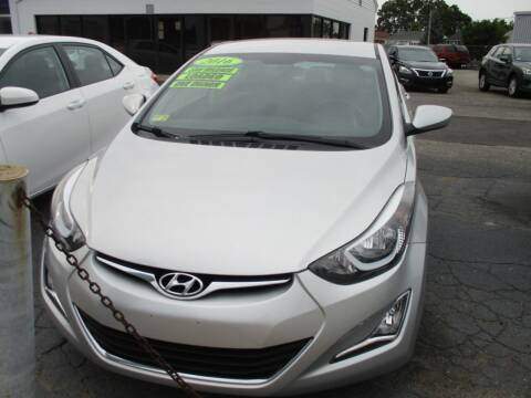 2016 Hyundai Elantra for sale at AUTO FACTORY INC in East Providence RI