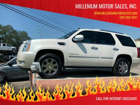 2008 Cadillac Escalade for sale at MILLENIUM MOTOR SALES, INC. in Rosenberg TX