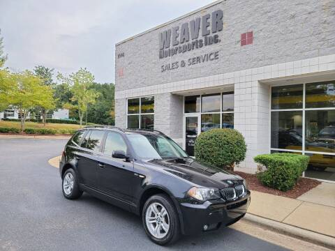 2006 BMW X3 for sale at Weaver Motorsports Inc in Cary NC