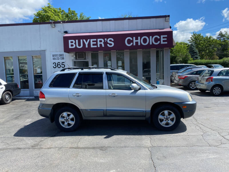 2005 Hyundai Santa Fe for sale at Buyers Choice Auto Sales in Bedford OH