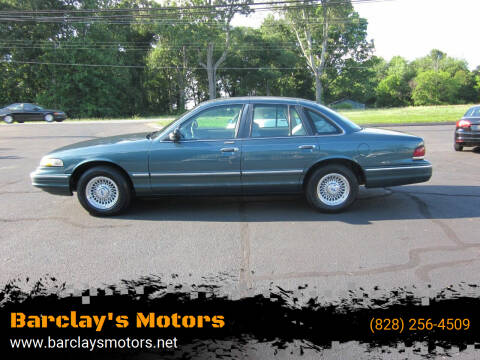 1996 Ford Crown Victoria for sale at Barclay's Motors in Conover NC