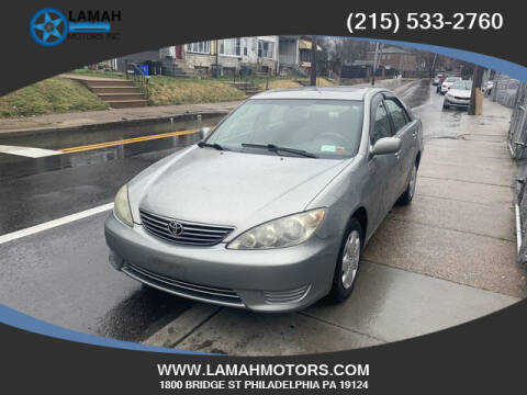 2005 Toyota Camry for sale at LAMAH MOTORS INC in Philadelphia PA