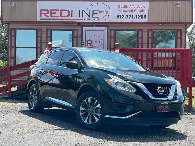 2017 Nissan Murano for sale at REDLINE AUTO SALES LLC in Cedar Creek TX