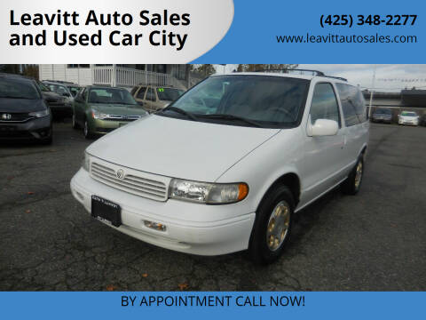 1998 Mercury Villager for sale at Leavitt Auto Sales and Used Car City in Everett WA