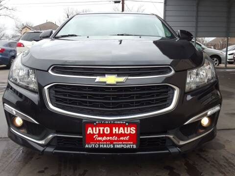 2015 Chevrolet Cruze for sale at Auto Haus Imports in Grand Prairie TX