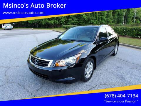 2009 Honda Accord for sale at Msinco's Auto Broker in Snellville GA
