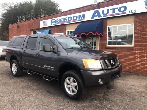 2012 Nissan Titan for sale at FREEDOM AUTO LLC in Wilkesboro NC