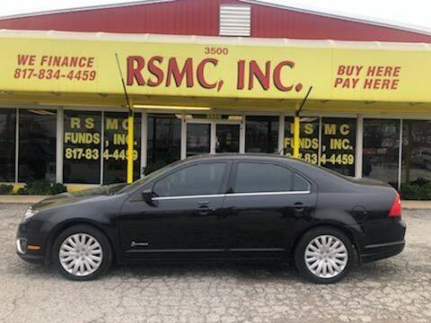 2010 Ford Fusion for sale at Ron Self Motor Company in Fort Worth TX