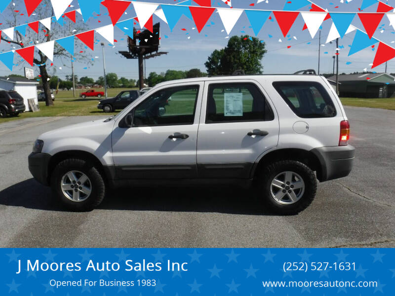 2007 Ford Escape for sale at J Moores Auto Sales Inc in Kinston NC
