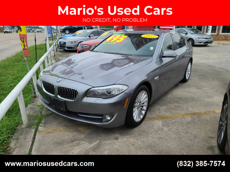 2012 BMW 5 Series for sale at Mario's Used Cars - South Houston Location in South Houston TX