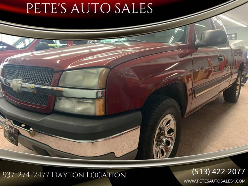 2005 Chevrolet Silverado 1500 for sale at PETE'S AUTO SALES - Dayton in Dayton OH