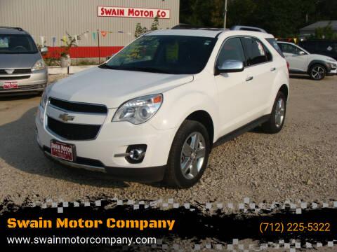 2015 Chevrolet Equinox for sale at Swain Motor Company in Cherokee IA
