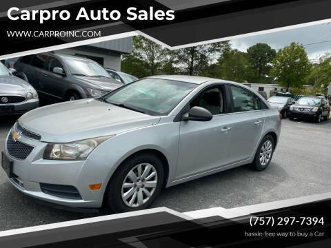2011 Chevrolet Cruze for sale at Carpro Auto Sales in Chesapeake VA