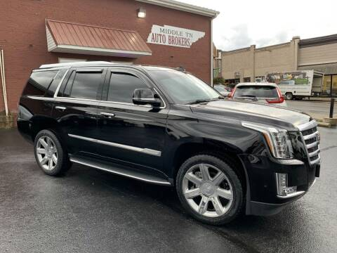 2018 Cadillac Escalade for sale at Middle Tennessee Auto Brokers LLC in Gallatin TN