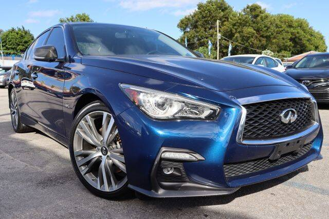 2018 Infiniti Q50 for sale at OCEAN AUTO SALES in Miami FL