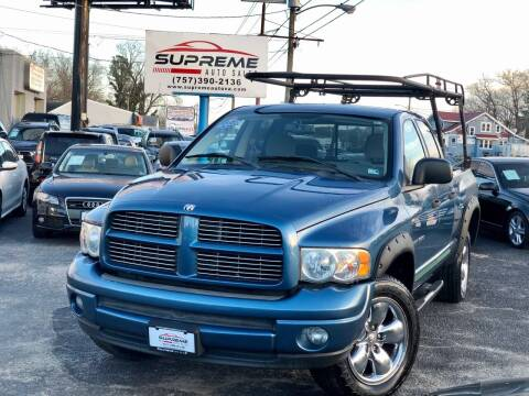 2004 Dodge Ram Pickup 1500 for sale at Supreme Auto Sales in Chesapeake VA