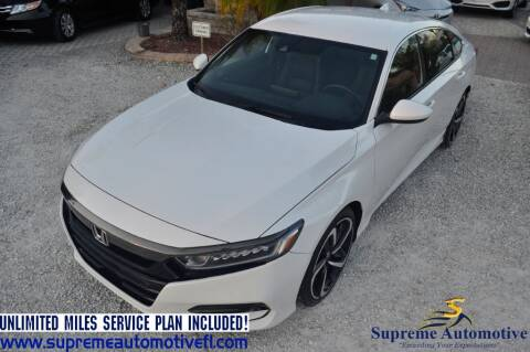2019 Honda Accord for sale at Supreme Automotive in Land O Lakes FL